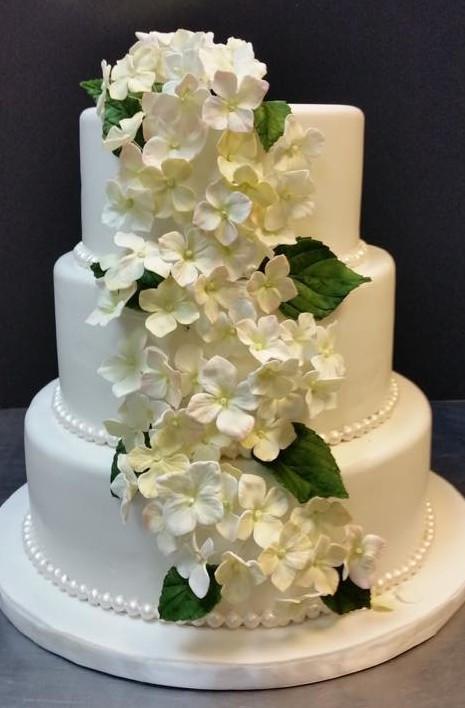 Hydrangeas Wedding Cakes  Hydrangeas on a Wedding Cake