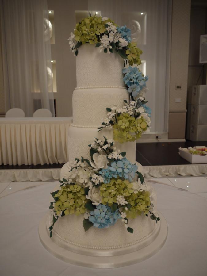 Hydrangeas Wedding Cakes  Hydrangea wedding cake cake by Galatia CakesDecor