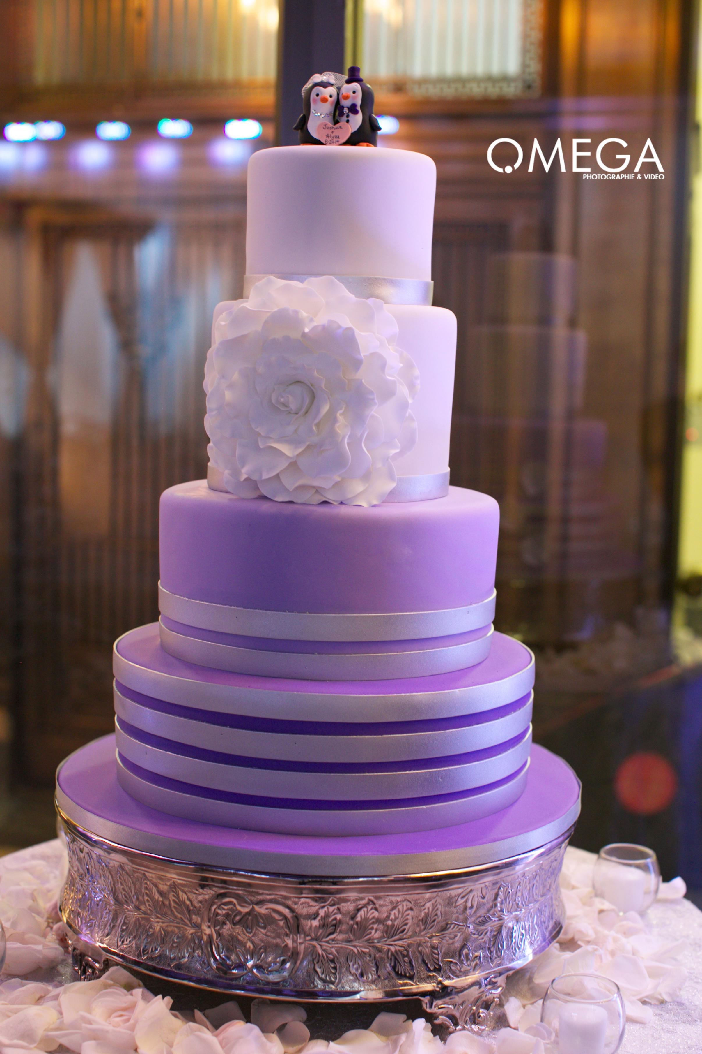 I Do Wedding Cakes  Purple tiered wedding cake