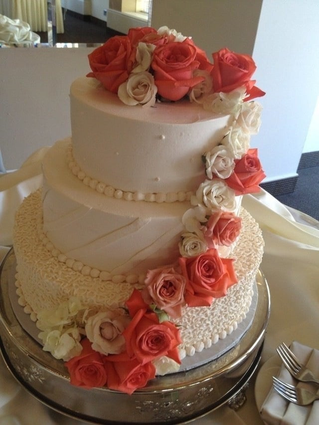 I Do Wedding Cakes Morgan Hill  Our wedding cake German chocolate and apple spice cake