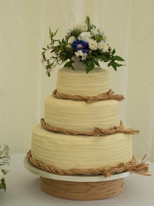 Iced Wedding Cakes  Hexagonal Royal Iced Wedding Cake