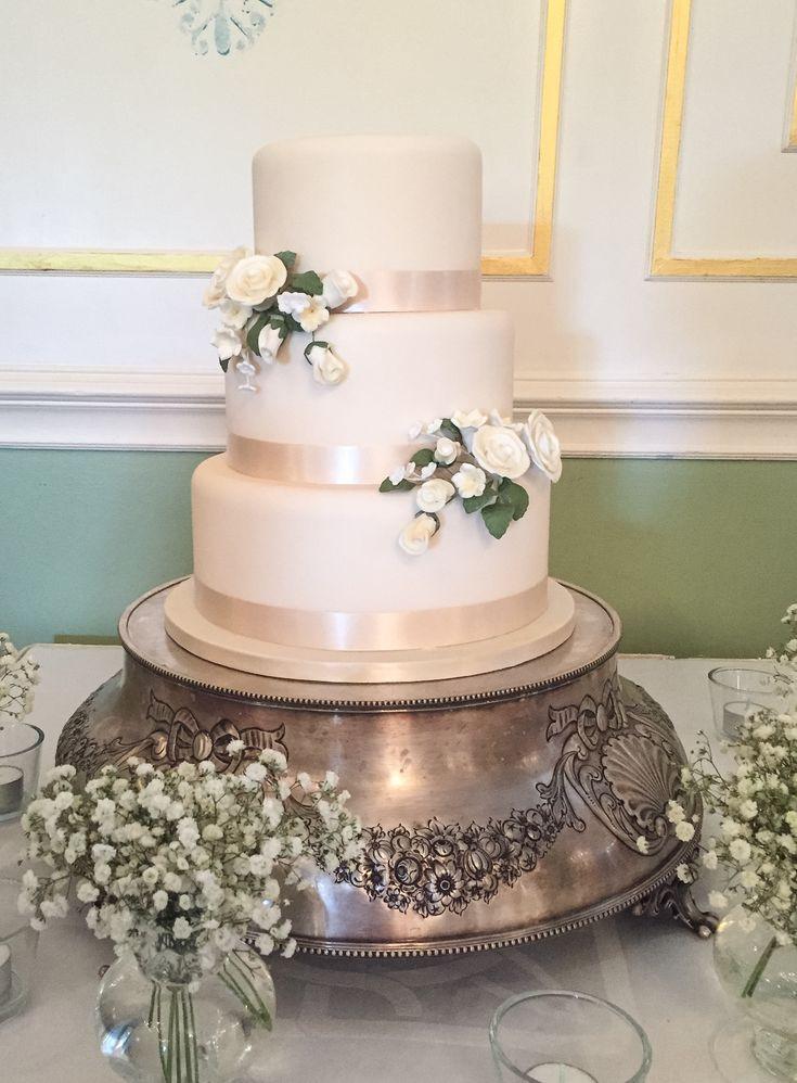 Iced Wedding Cakes  56 best Fondant iced wedding cakes images on Pinterest