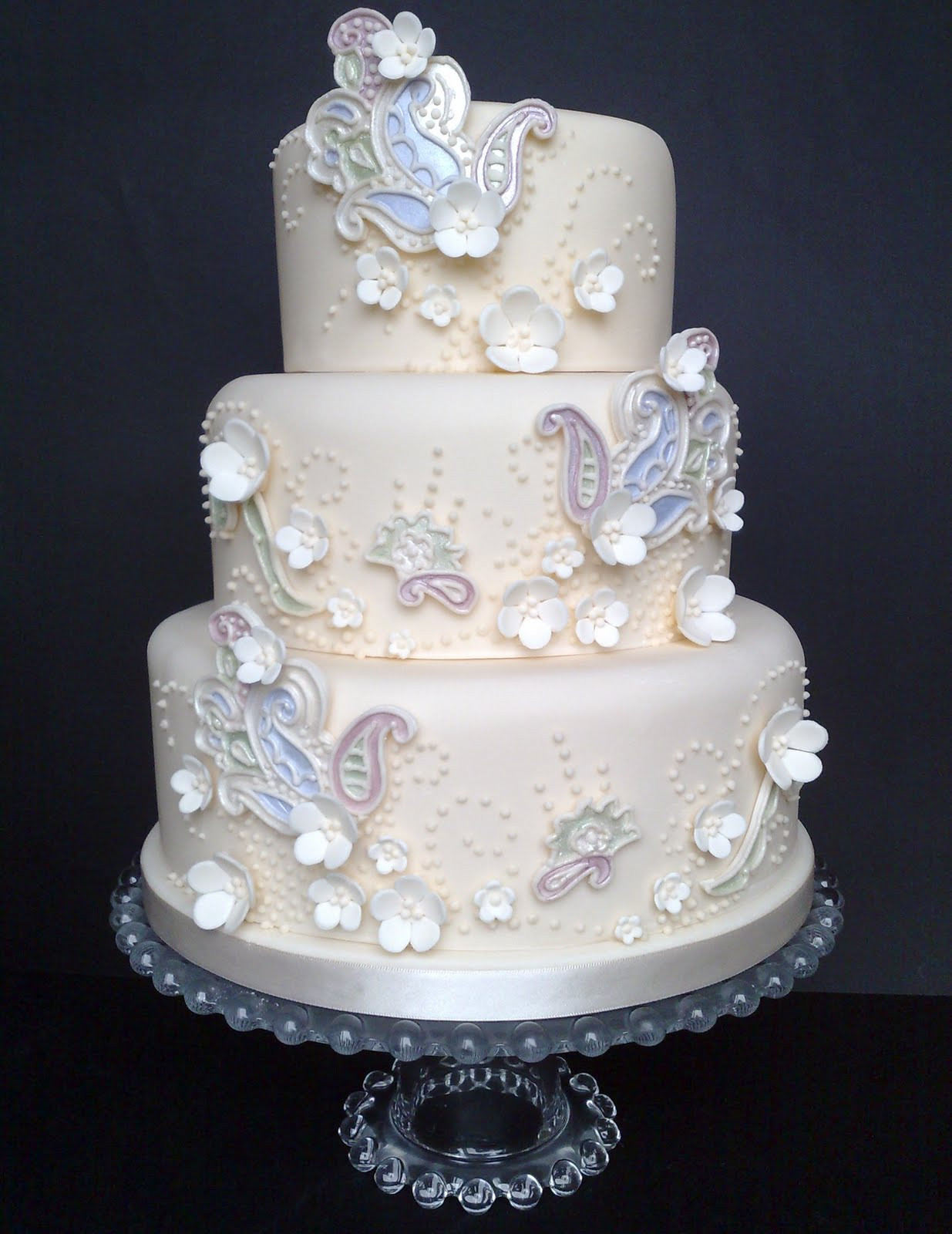 """Iced Wedding Cakes  Small Things Iced """"A Paisley Dream"""" Wedding Cake"""
