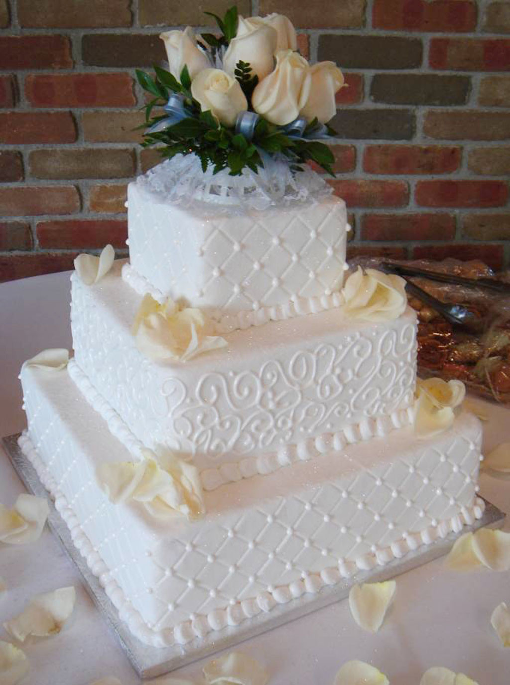 Icing For Wedding Cakes  Buttercream Icing Wedding Cakes Wedding Cake Cake Ideas
