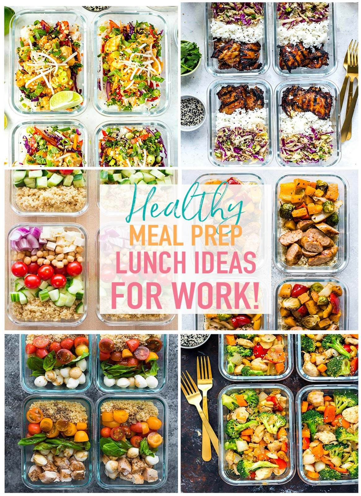 Ideas For Healthy Lunches  20 Easy Healthy Meal Prep Lunch Ideas for Work The Girl
