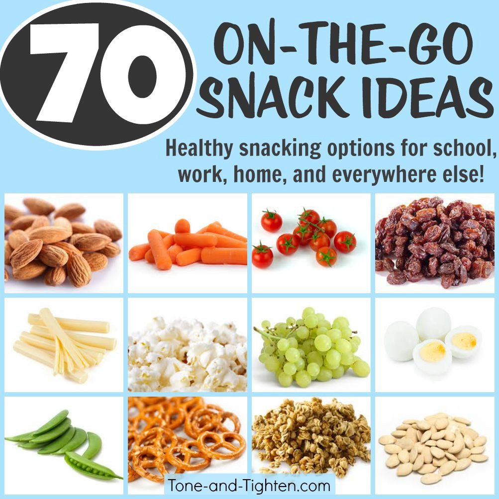 Ideas For Healthy Snacks  70 Portable Healthy Snacks