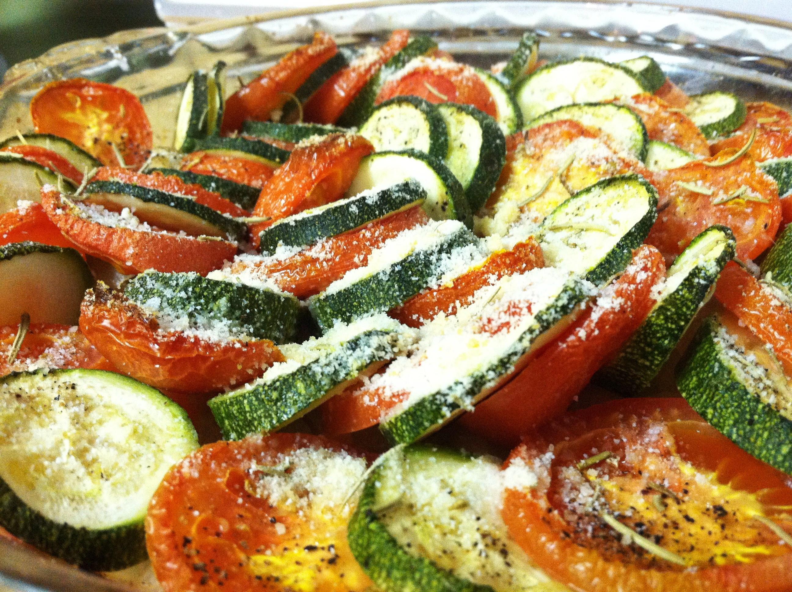Ina Garten Roasted Summer Vegetables  thyme