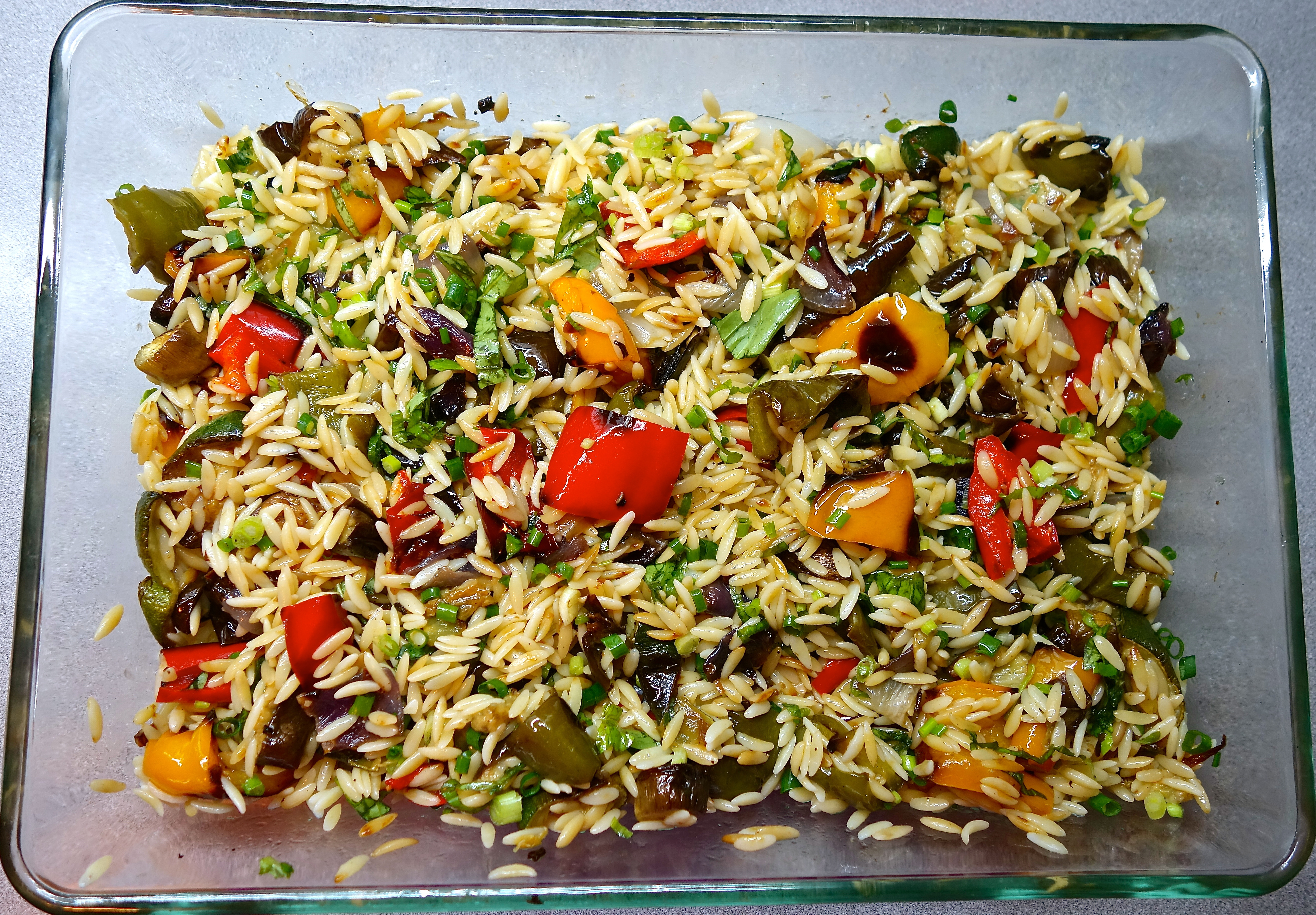 Ina Garten Roasted Summer Vegetables  Cooking the Books Orzo with Roasted Ve ables