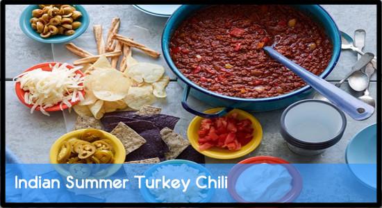 Indian Summer Turkey Chili  Indian Summer Turkey Chili