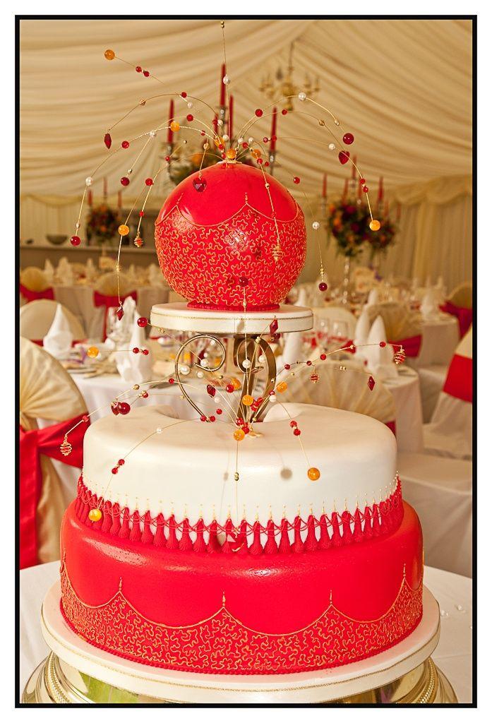 Indian Wedding Cakes  Indian Wedding Cake Red
