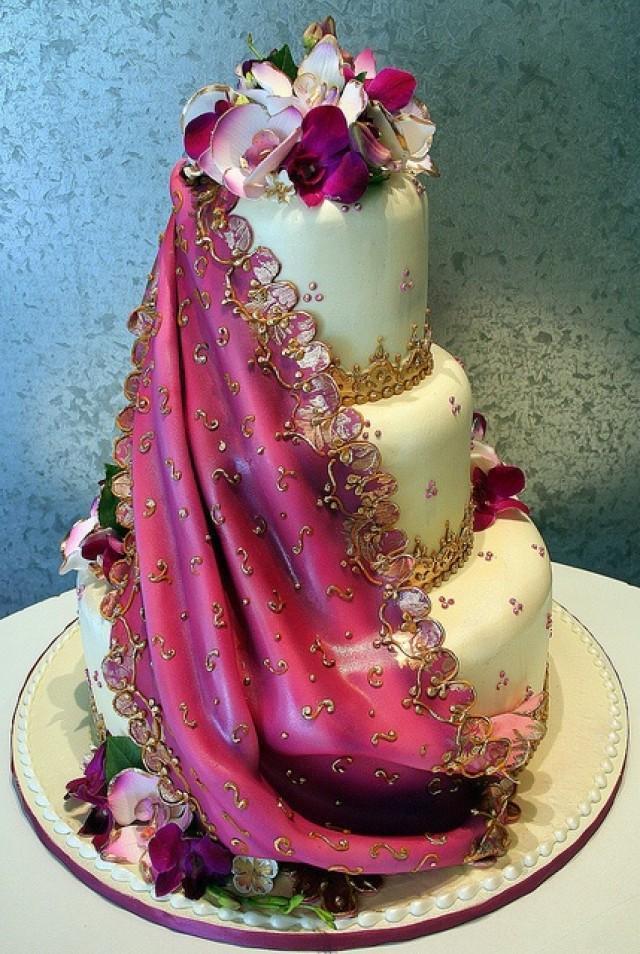 Indian Wedding Cakes  Indian Wedding Indian Sari Wedding Cake Weddbook
