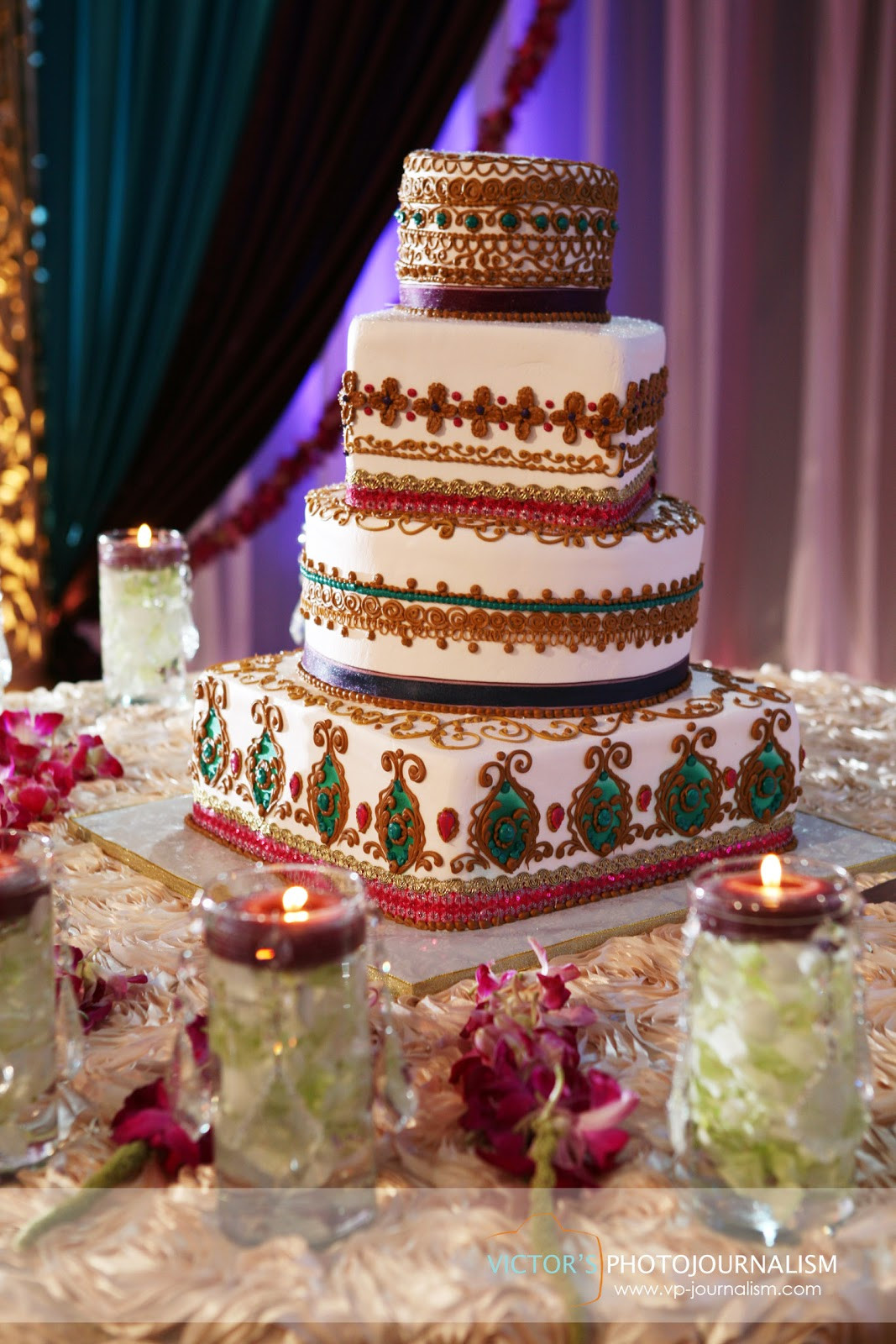 Indian Wedding Cakes  Mark and Kajal married A Hindu and Christian