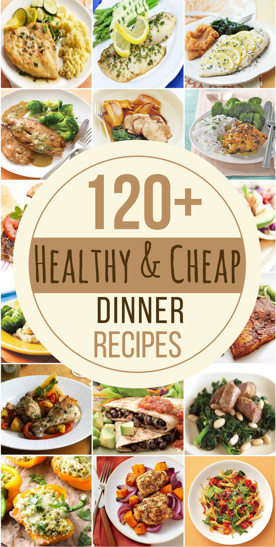 Inexpensive Healthy Dinners  120 Healthy and Cheap Dinner Recipes Prudent Penny Pincher