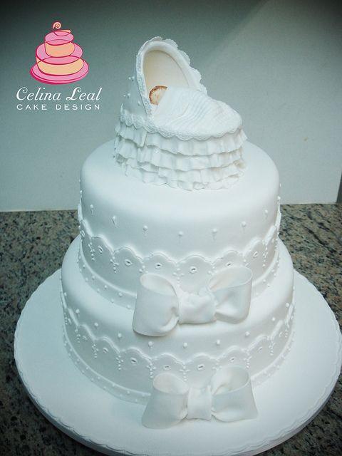 Ingles Wedding Cakes  Bolo Batizado bordado inglês