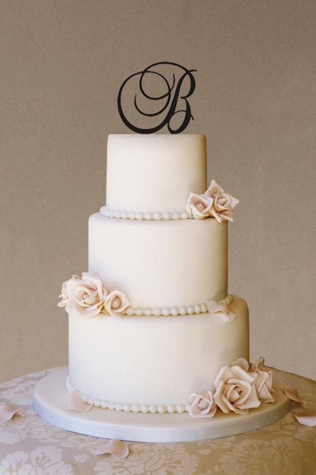 Initial Cake Toppers For Wedding Cakes  Custom Wedding Cake Topper Wedding Cake Topper Monogram