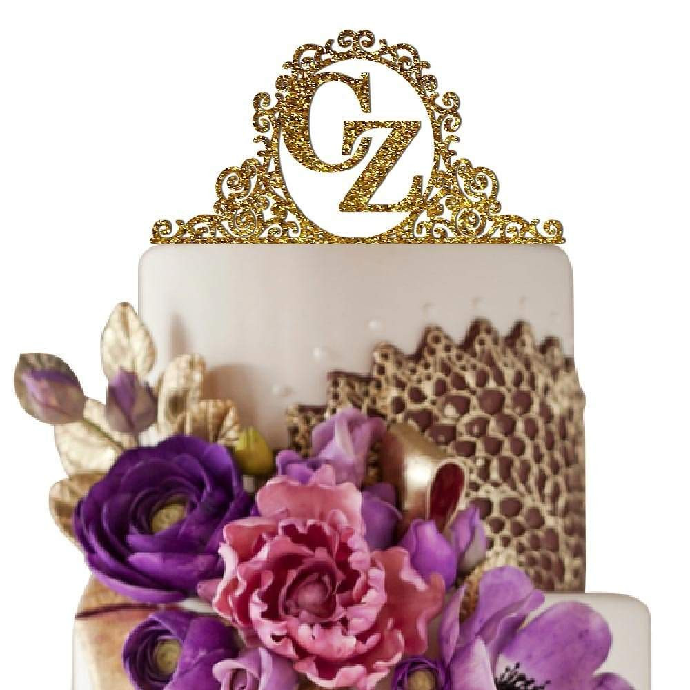 Initial Cake Toppers For Wedding Cakes  Top 10 Best Monogram Cake Toppers