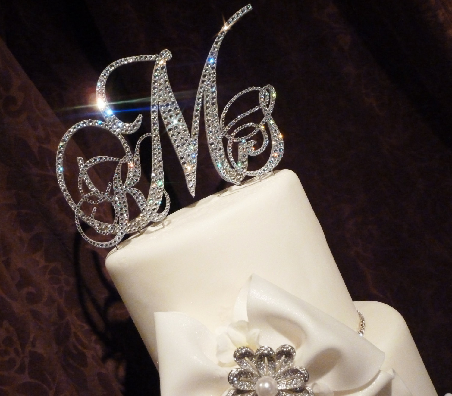 Initials Cake Toppers For Wedding Cakes  Monogram Wedding Cake Toppers Ideas MARGUSRIGA Baby Party
