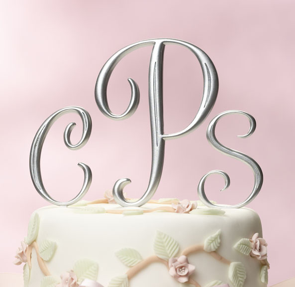 Initials Cake Toppers For Wedding Cakes  Wedding Cakes Monogram Wedding Cake Toppers