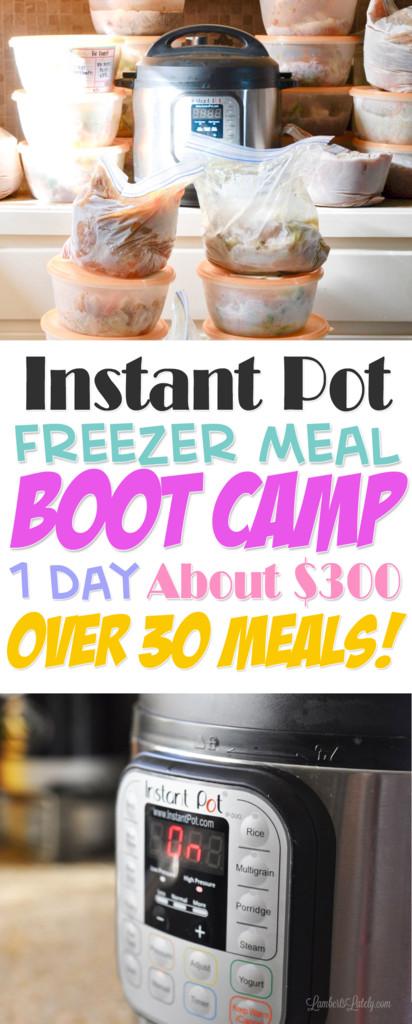 Instant Pot Camping Recipes top 20 the original Instant Pot Freezer Meal Boot Camp E Day