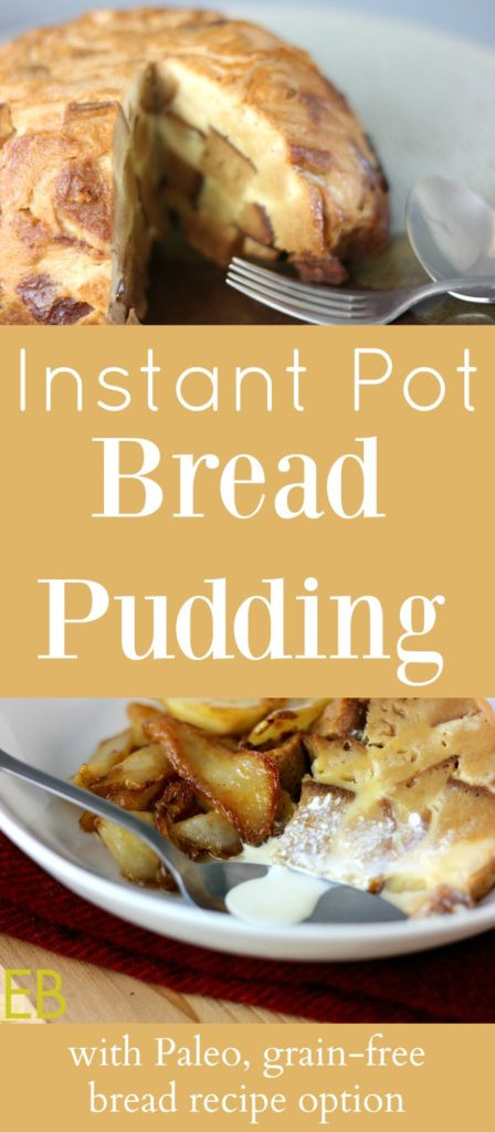 Instant Pot Healthy Desserts  Instant Pot BREAD PUDDING with Paleo grain free option
