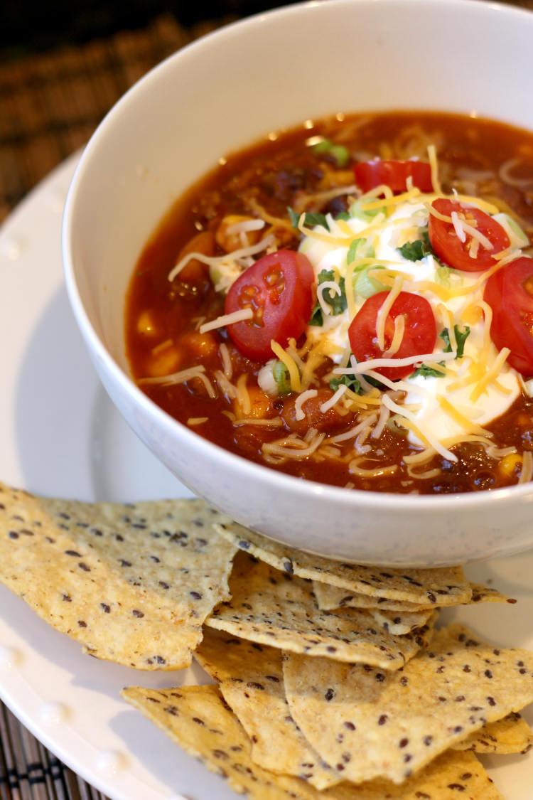 Instant Pot Soup Recipes Healthy  Instant Pot Taco Soup healthy recipe in 20 minutes