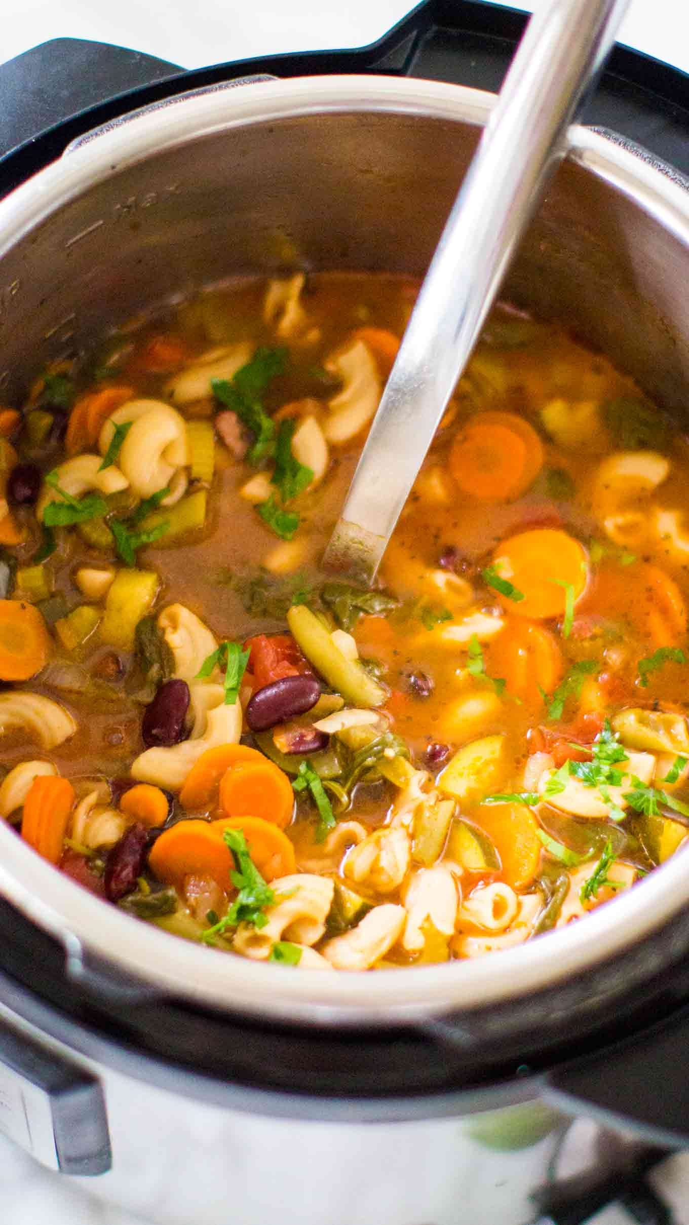 Instant Pot Soup Recipes Healthy  Instant Pot Minestrone Soup Sweet and Savory Meals