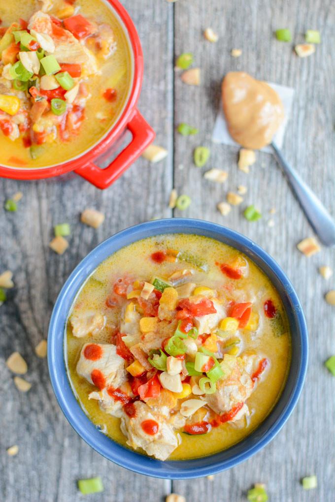 Instant Pot Summer Recipes  Instant Pot Thai Peanut Chicken Soup