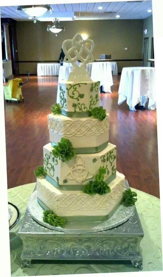 Irish Wedding Cakes  21 best images about St Patrick s Day Wedding Theme on