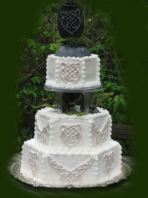 Irish Wedding Cakes  17 Best images about Celtic wedding cakes I love