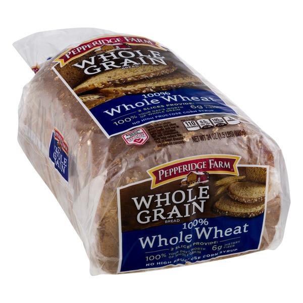 Is 100 Whole Wheat Bread Healthy  Pepperidge Farms Whole Grain Whole Wheat Bread 24OZ