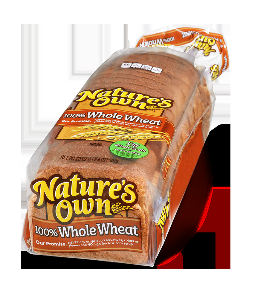 Is 100 Whole Wheat Bread Healthy  Nature S Own Whole Wheat Bread Nutrition Label