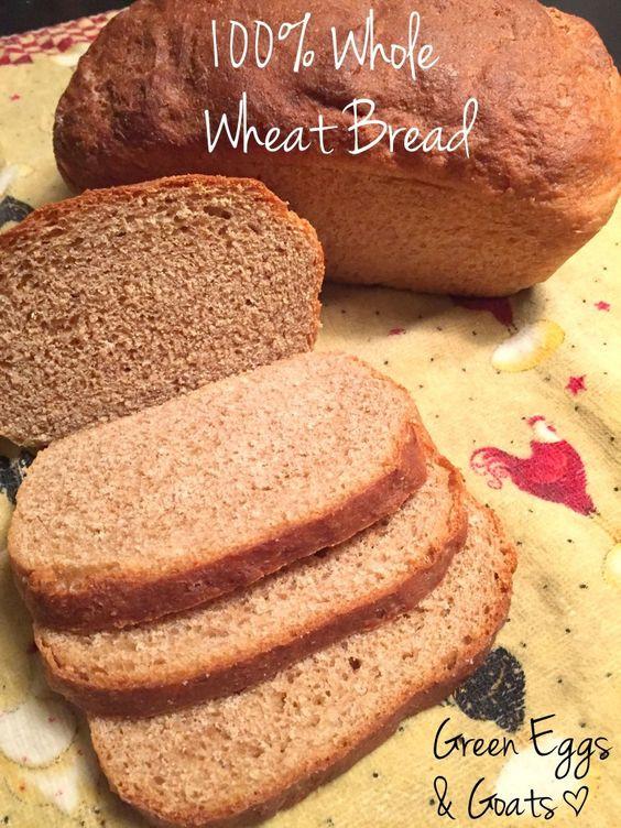 Is 100 Whole Wheat Bread Healthy  Whole Wheat Sandwich Bread Recipe