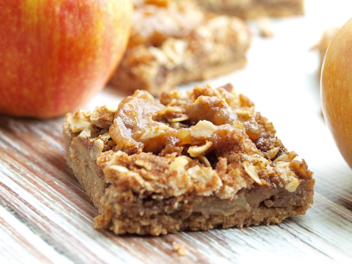 Is Apple Pie Healthy  Vegan Salted Caramel Apple Pie Bars Happy Healthy Mama