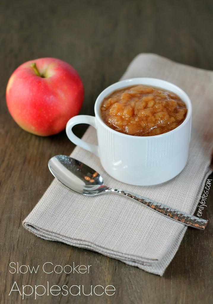 Is Applesauce Healthy  Slow Cooker Applesauce Emily Bites