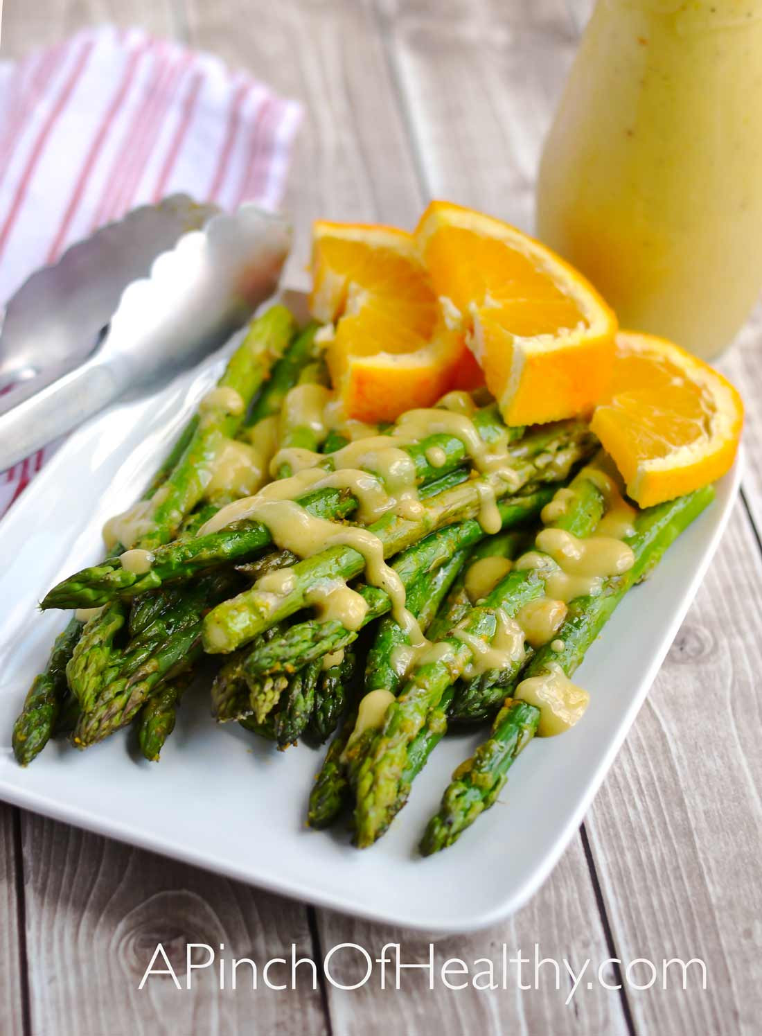 Is Asparagus Healthy  Roasted Asparagus with Orange Vinaigrette A Pinch of Healthy