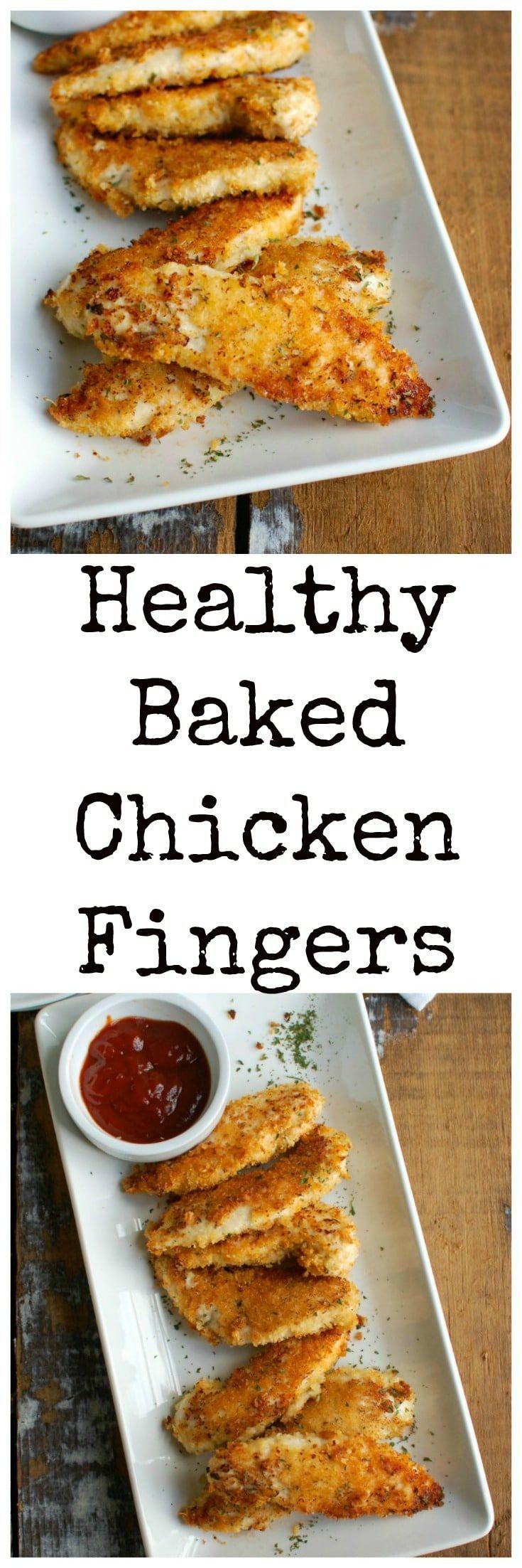 Is Baked Chicken Healthy  De 25 bedste idéer inden for Chicken finger recipes på