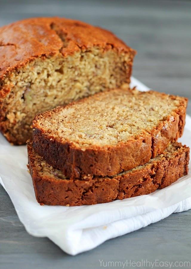Is Bread Healthy For You  Healthy Banana Bread Yummy Healthy Easy