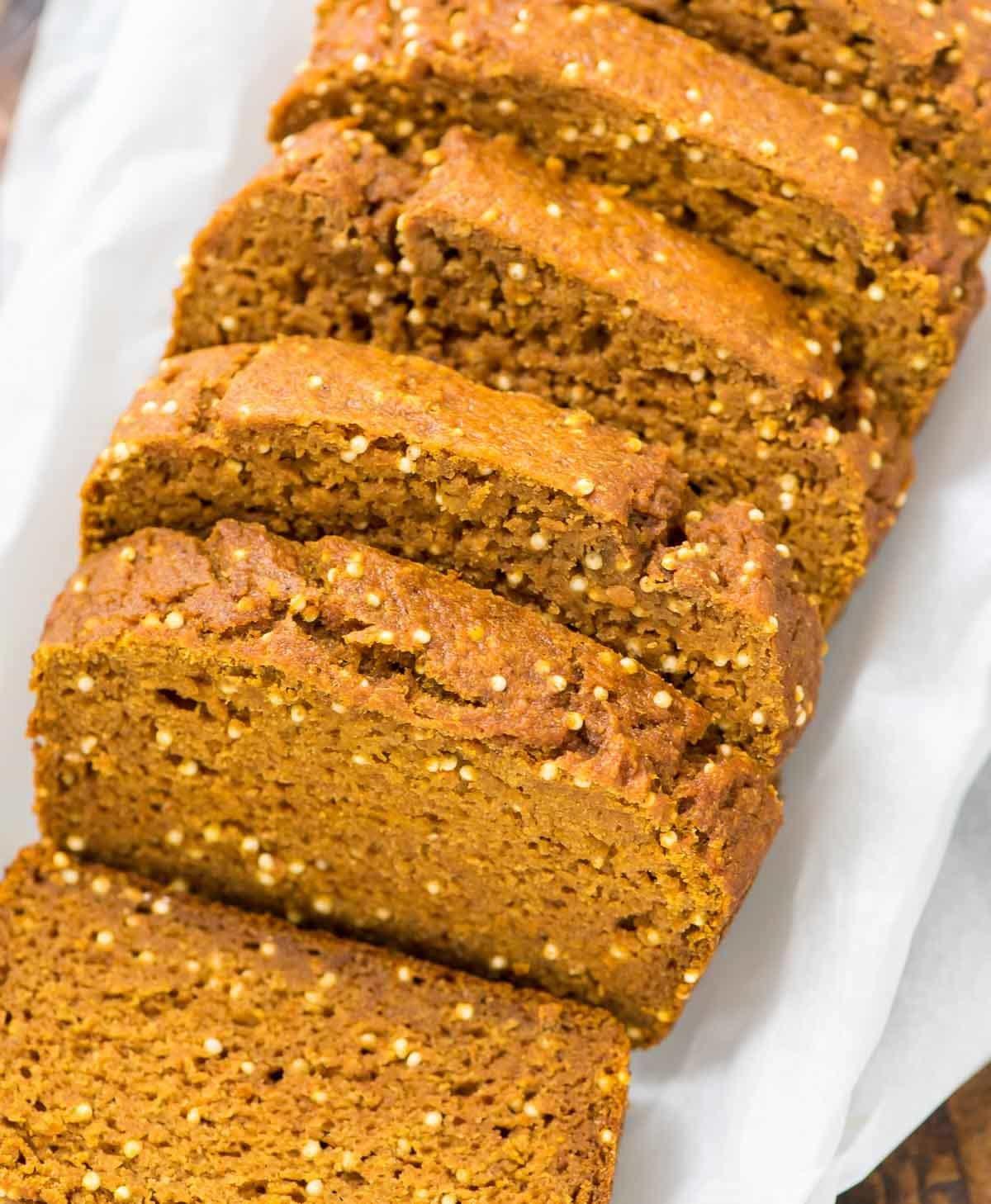 Is Bread Healthy  Healthy Pumpkin Bread Recipe