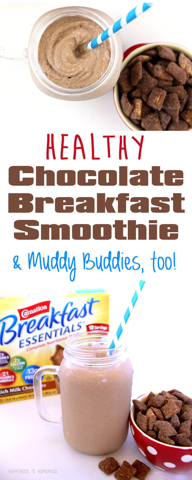 Is Breakfast Essentials Healthy  Healthy Chocolate Breakfast Smoothie & Muddy Bud s Mix