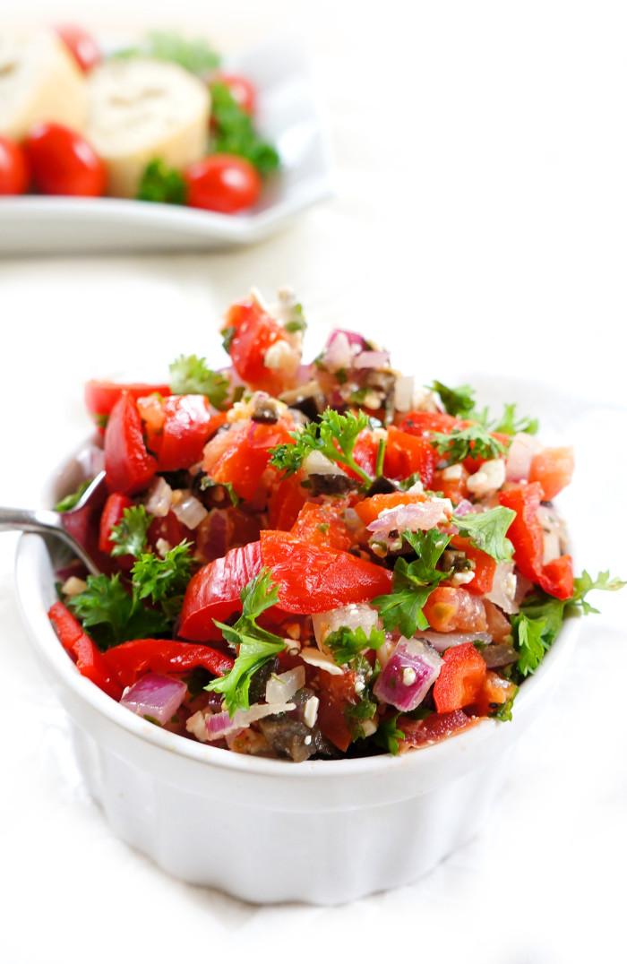 Is Bruschetta Healthy  Haute & Healthy Living Mediterranean Bruschetta Spread