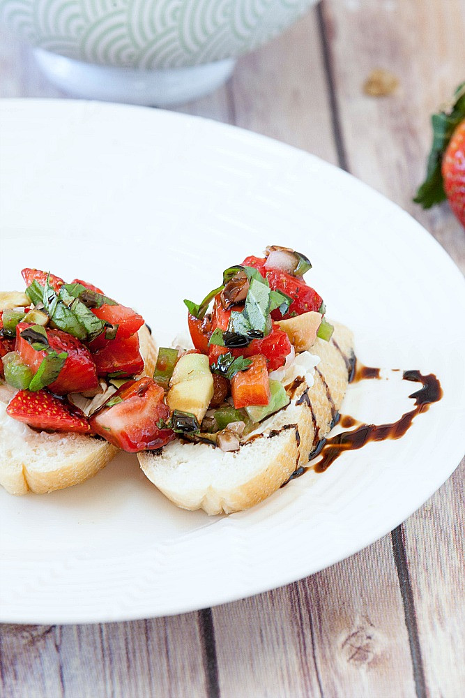 Is Bruschetta Healthy  Healthy Strawberry Bruschetta