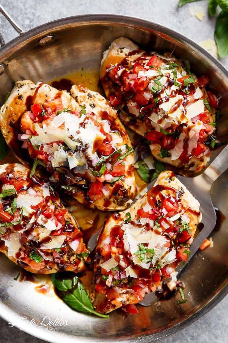 Is Bruschetta Healthy  Italian Herb Bruschetta Chicken Cafe Delites
