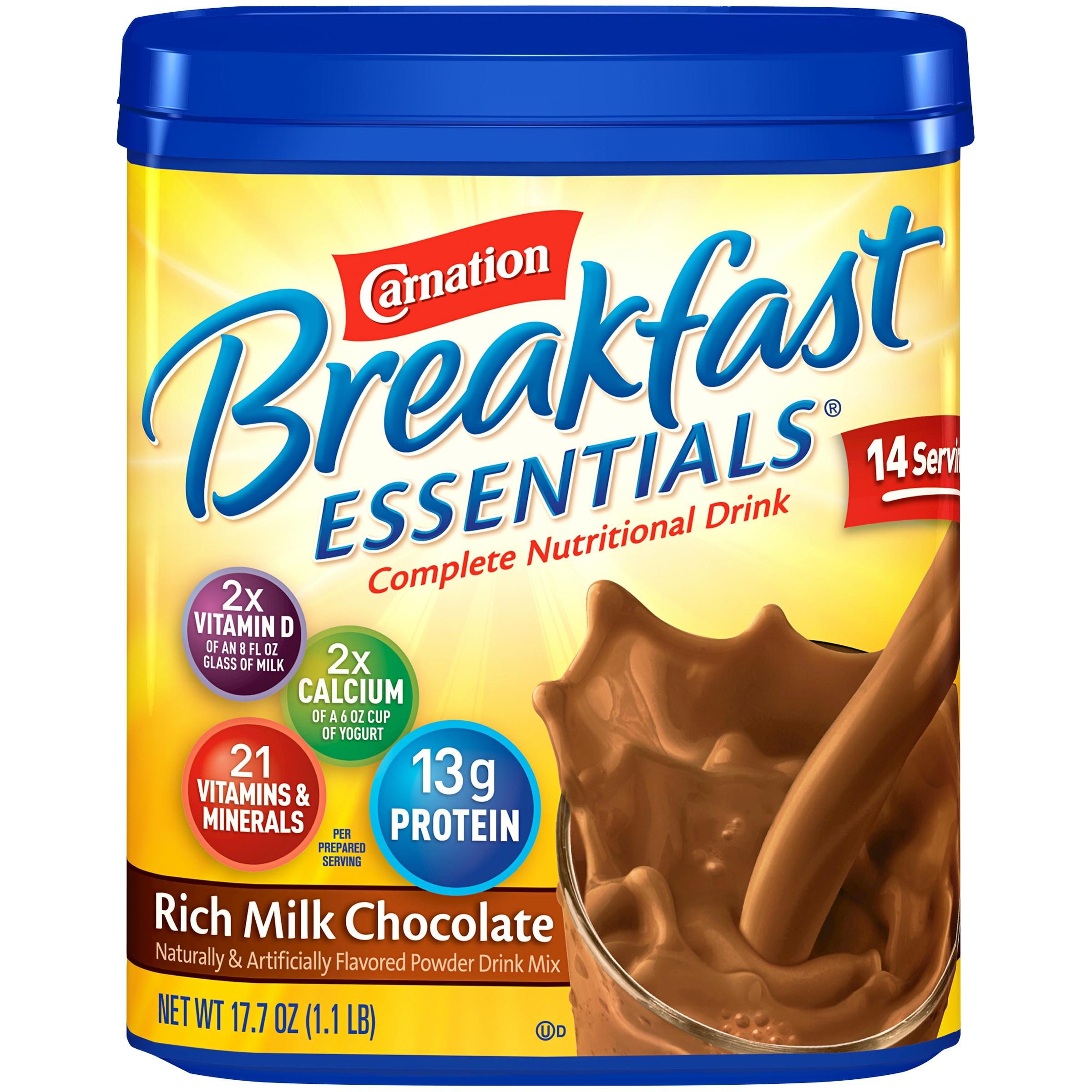 Is Carnation Instant Breakfast Healthy  Carnation Instant Breakfast Nutrition Vs Ensure