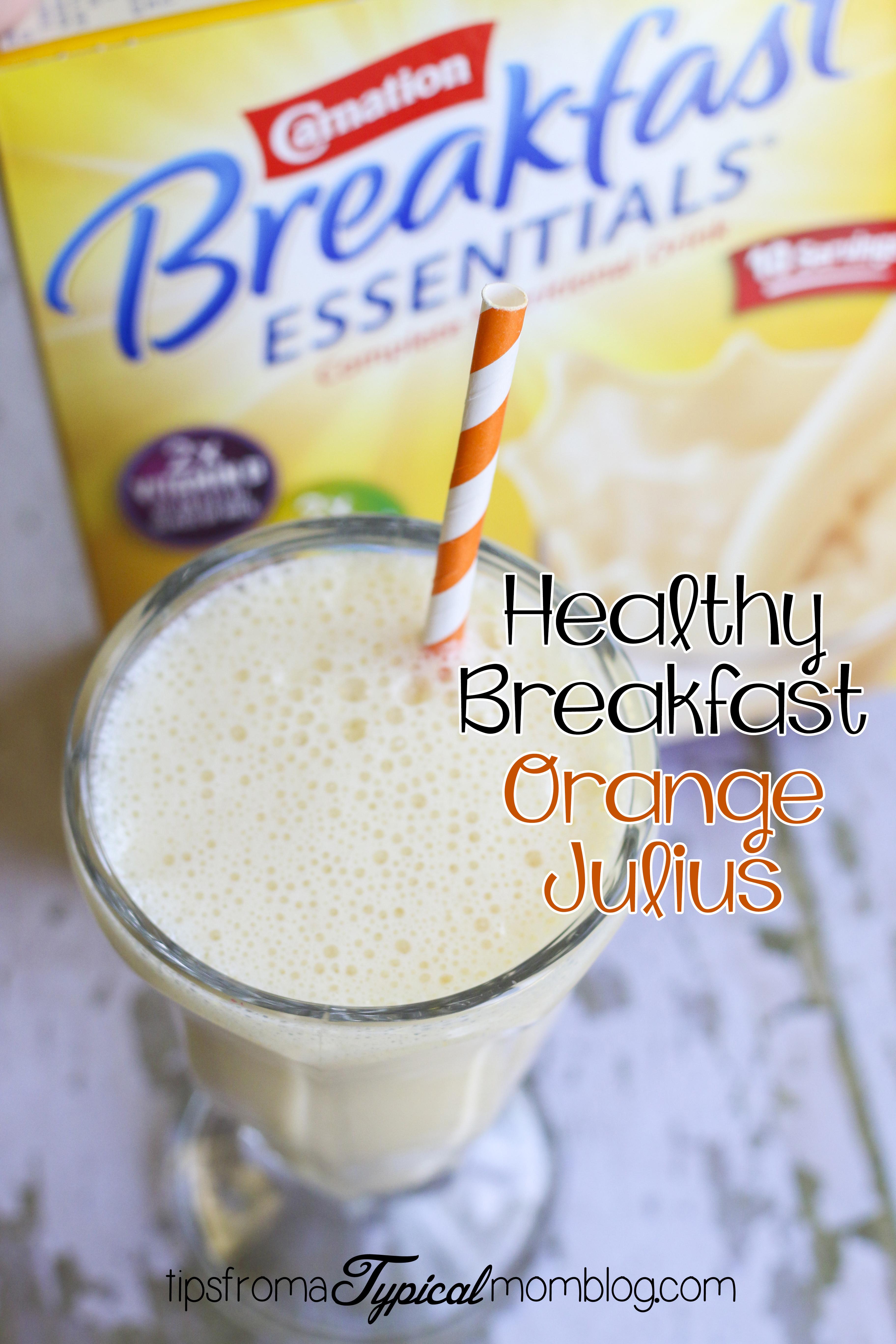 Is Carnation Instant Breakfast Healthy  Healthy Breakfast Orange Julius Smoothie