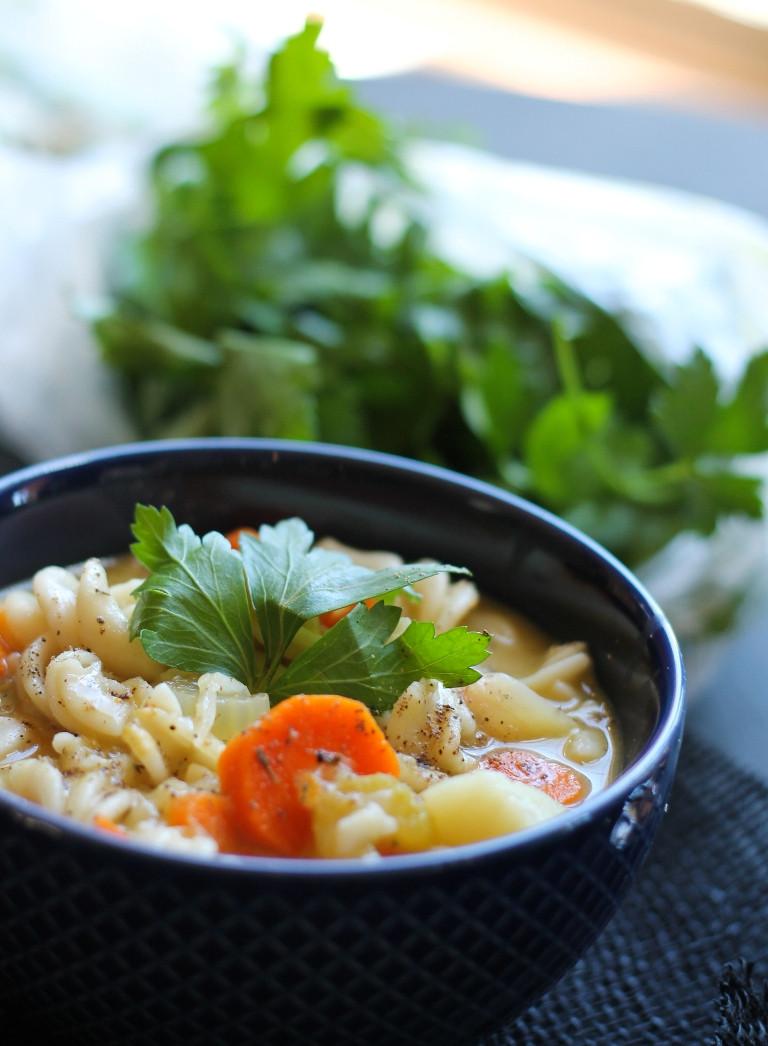 Is Chicken Noodle Soup Healthy  Classic Vegan Noodle Soup