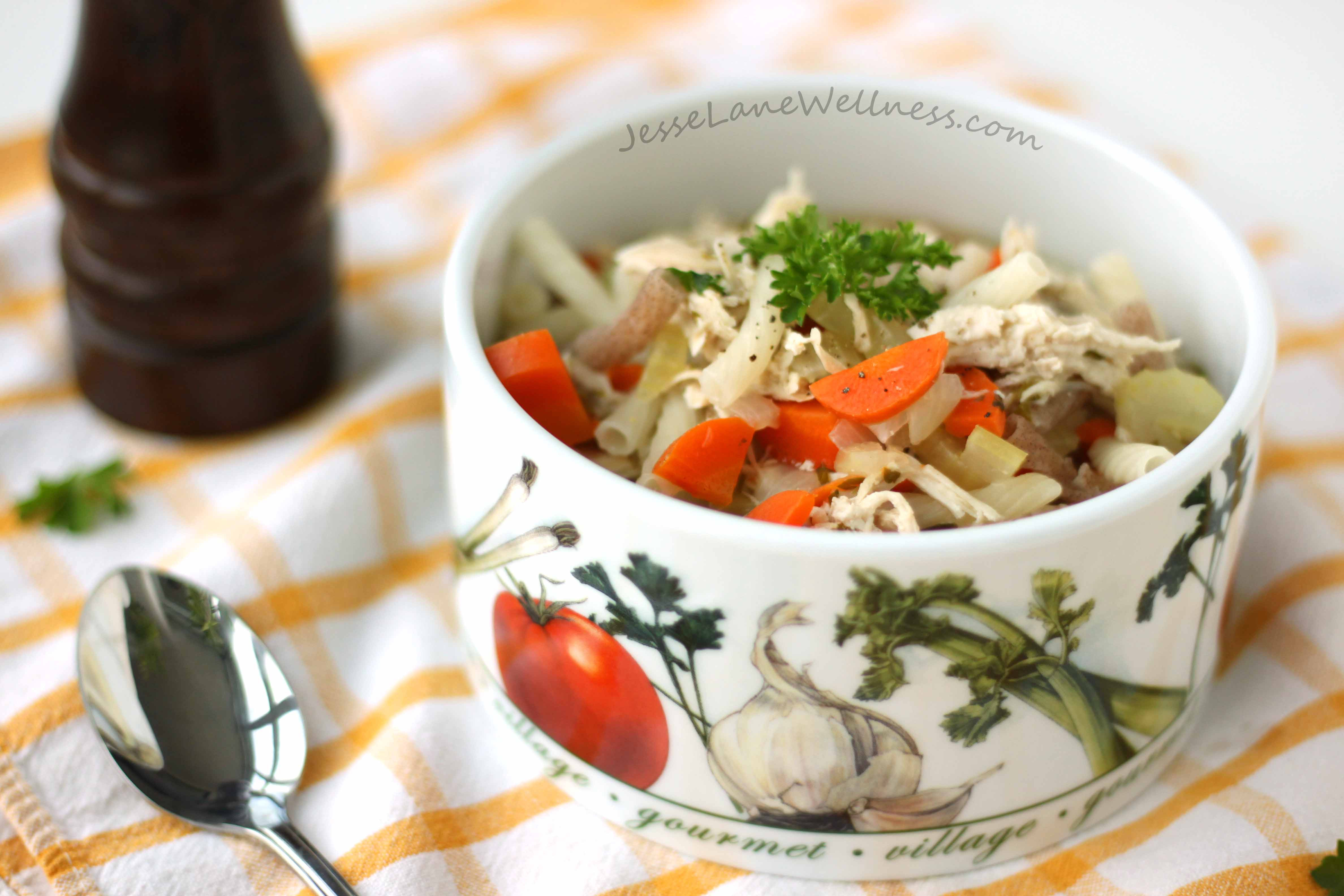 Is Chicken Noodle Soup Healthy  Healthy Chicken Noodle Soup Recipe by Jesse Lane Wellness