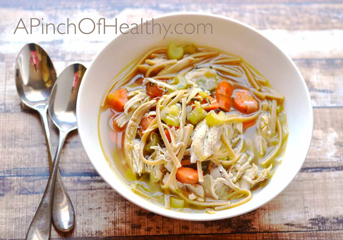 Is Chicken Noodle Soup Healthy  Chicken Noodle Soup from Scratch A Pinch of Healthy