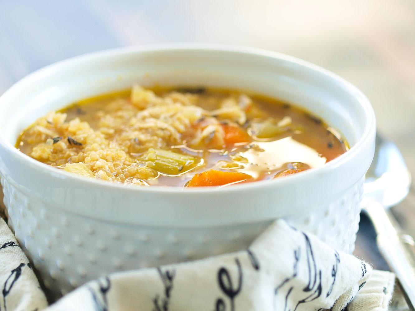 Is Chicken Noodle Soup Healthy  Chicken Quinoa Soup Happy Healthy Mama