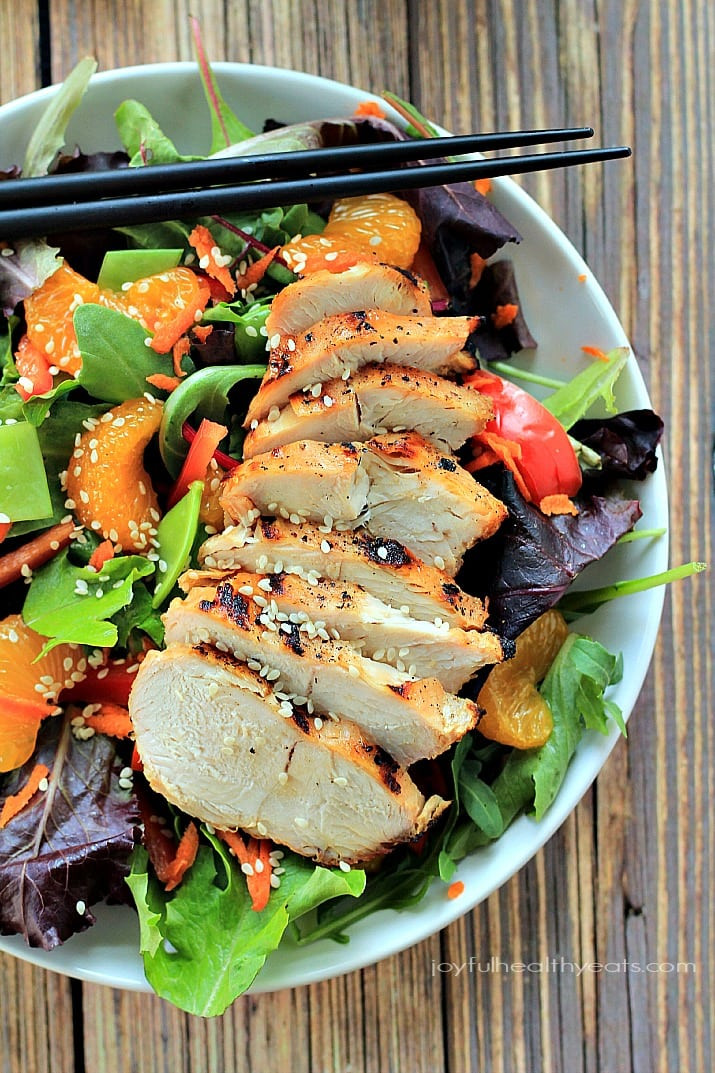 Is Chicken Salad Healthy  Asian Chicken Salad with Sesame Ginger Dressing