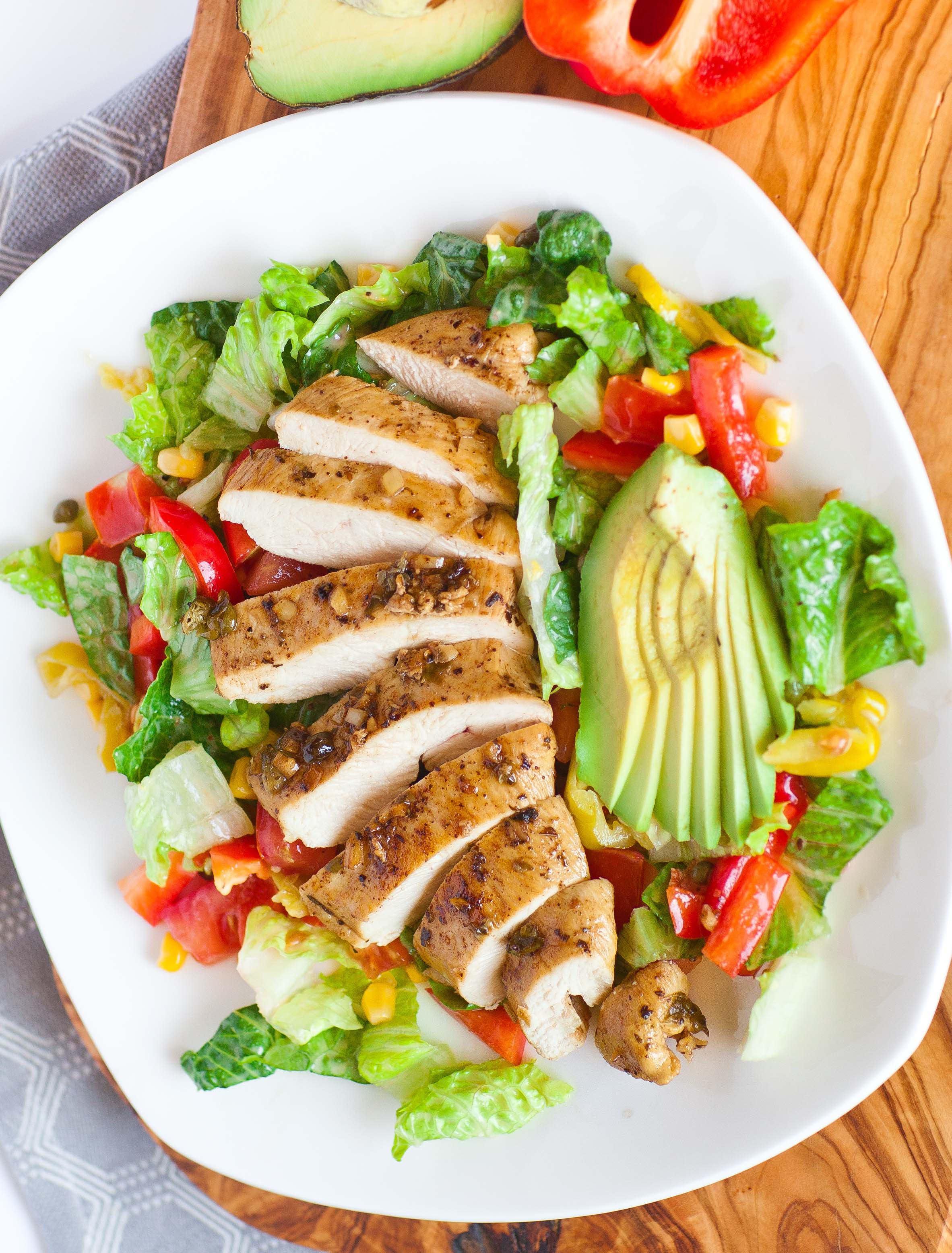 Is Chicken Salad Healthy  Garlic Chicken Salad Tatyanas Everyday Food
